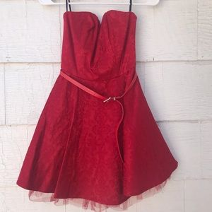 Forever 21 Little Red Puffy Dress